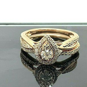 Engagement Ring 0.50ctw Diamond Wedding Set Size 6